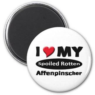 I love my Spoiled Rotten Affenpinscher 6 Cm Round Magnet