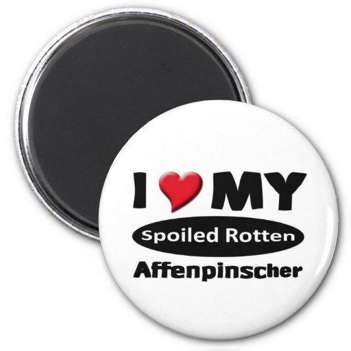 I love my Spoiled Rotten Affenpinscher Refrigerator Magnet