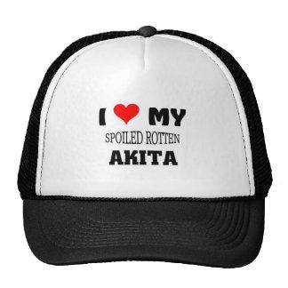 I love my spoiled rotten Akita Cap