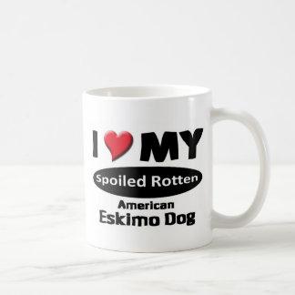 I love my spoiled rotten American Eskimo Dog Basic White Mug