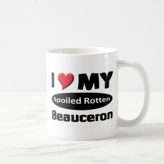 I love my Spoiled rotten Beauceron Basic White Mug