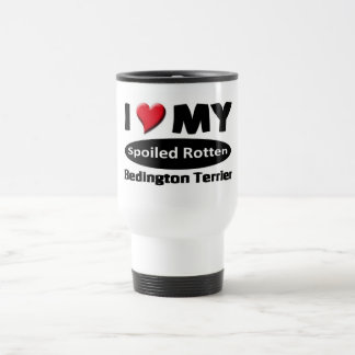I love my spoiled rotten Bedington Terrier Coffee Mugs