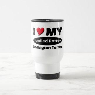 I love my spoiled rotten Bedington Terrier Coffee Mugs