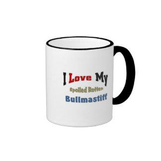 I love my spoiled rotten Bullmastiff Coffee Mug