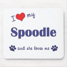 I Love My Spoodle (Female Dog) Mousepad