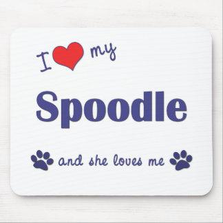 I Love My Spoodle Female Dog Mousepad