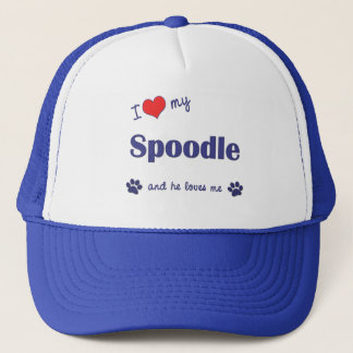 I Love My Spoodle (Male Dog) Trucker Hat
