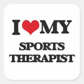 I love my Sports Therapist Square Sticker