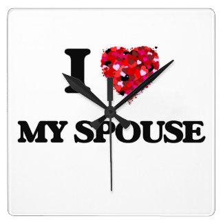 I love My Spouse Wall Clocks