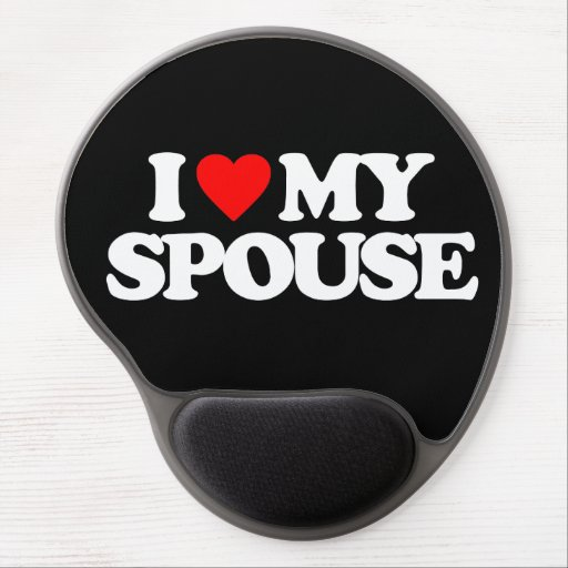 I LOVE MY SPOUSE GEL MOUSE MAT