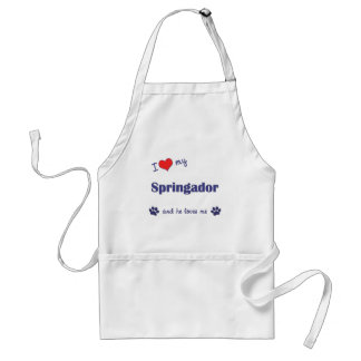 I Love My Springador (Male Dog) Standard Apron