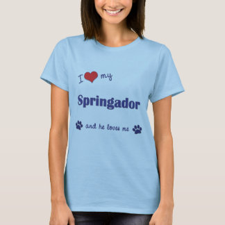 I Love My Springador (Male Dog) T-Shirt