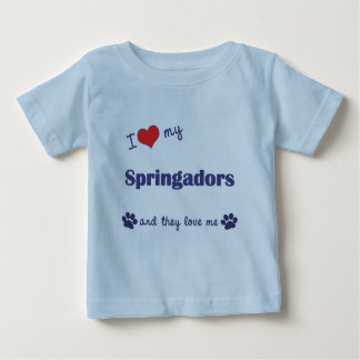 I Love My Springadors (Multiple Dogs) Baby T-Shirt