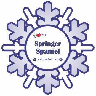 I Love My Springer Spaniel (Female Dog) Photo Sculpture Decoration