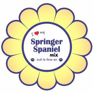 I Love My Springer Spaniel Mix (Male Dog) Photo Sculpture Decoration