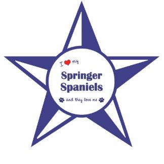 I Love My Springer Spaniels (Multiple Dogs) Photo Sculpture Decoration
