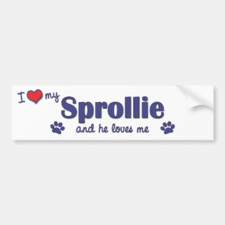 I Love My Sprollie (Male Dog) Bumper Sticker