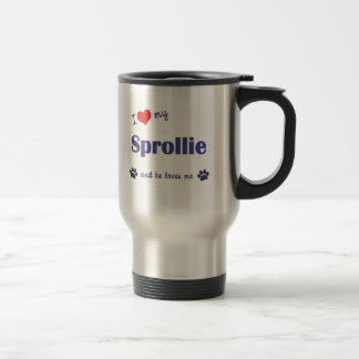 I Love My Sprollie (Male Dog) Stainless Steel Travel Mug