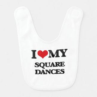I Love My SQUARE DANCES Baby Bib