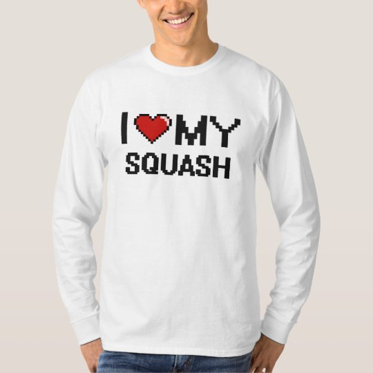 I Love My Squash Digital design T-Shirt