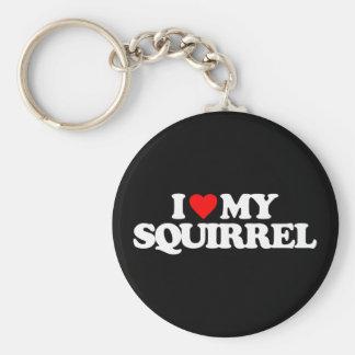 I LOVE MY SQUIRREL KEY RING