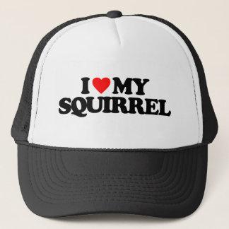 I LOVE MY SQUIRREL TRUCKER HAT