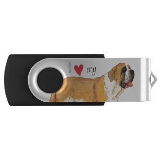 I Love my St. Bernard USB Flash Drive
