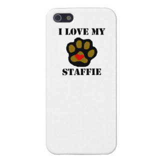 I Love My Staffie iPhone 5 Cover