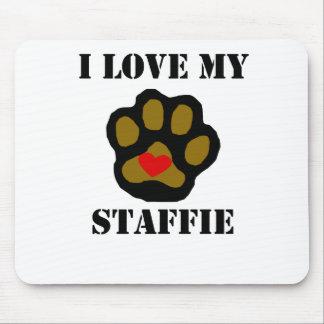 I Love My Staffie Mousepads
