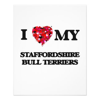 I love my Staffordshire Bull Terrier 11.5 Cm X 14 Cm Flyer