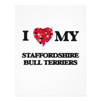 I love my Staffordshire Bull Terriers 21.5 Cm X 28 Cm Flyer