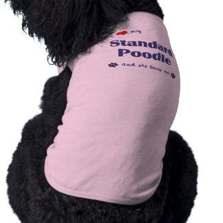 I Love My Standard Poodle (Female Dog) Shirt