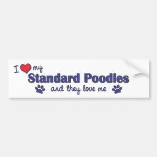 I Love My Standard Poodles Multiple Dogs Bumper Sticker