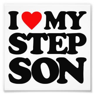 I LOVE MY STEP SON PHOTO PRINT