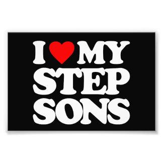I LOVE MY STEP SONS PHOTO ART