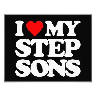 I LOVE MY STEP SONS PHOTO PRINT