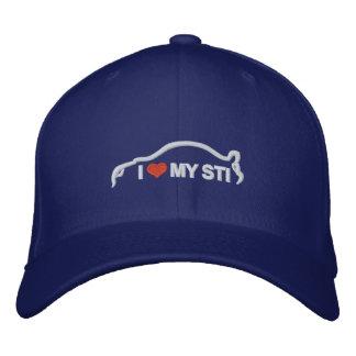 I Love My STI Embroidered Hats