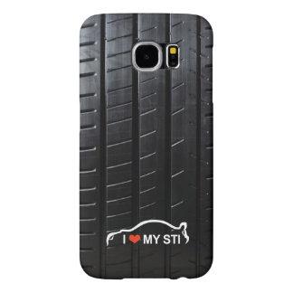 I Love MY STI on tire tread Samsung Galaxy S6 Cases