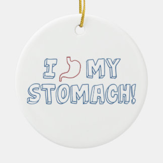 I Love My Stomach Christmas Ornament