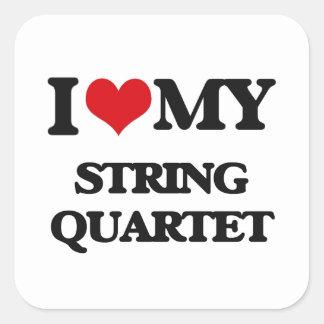 I Love My STRING QUARTET Sticker