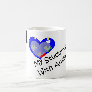 I Love My Students' With Autism mug