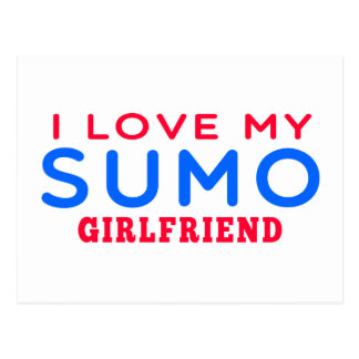 I Love My Sumo Girlfriend Post Cards