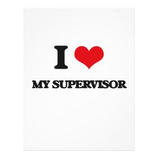 I love My Supervisor 21.5 Cm X 28 Cm Flyer