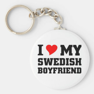 I love my swedish boyfriend key ring