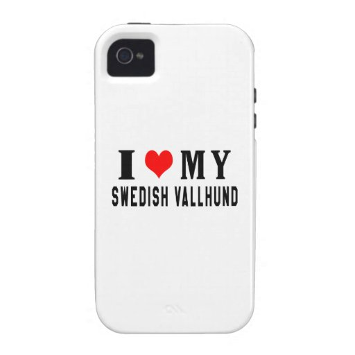 I Love My Swedish Vallhund Case-Mate iPhone 4 Case