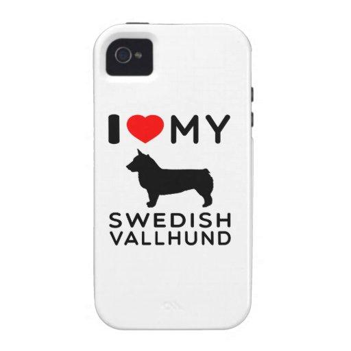 I Love My Swedish Vallhund Vibe iPhone 4 Case