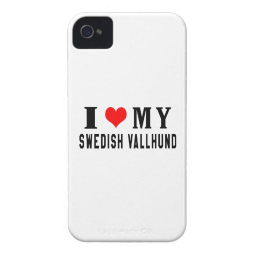 I Love My Swedish Vallhund Case-Mate iPhone 4 Cases