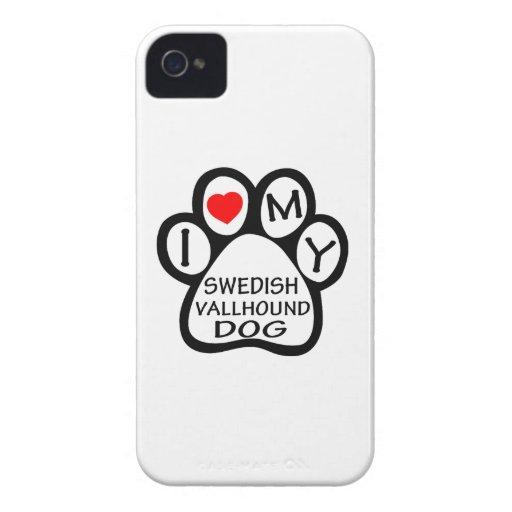 I Love My Swedish Vallhund Dog Case-Mate iPhone 4 Case