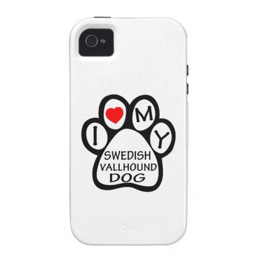 I Love My Swedish Vallhund Dog iPhone 4 Case