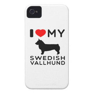 I Love My Swedish Vallhund iPhone 4 Case-Mate Case